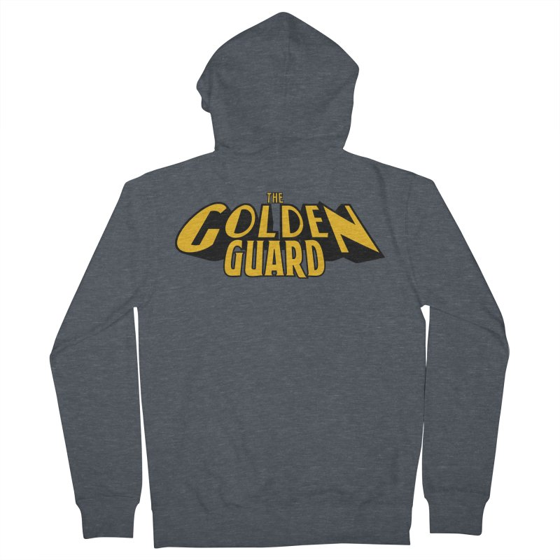 The Golden Guard - Logo Men's French Terry Zip-Up Hoody by incogvito's Artist Shop
