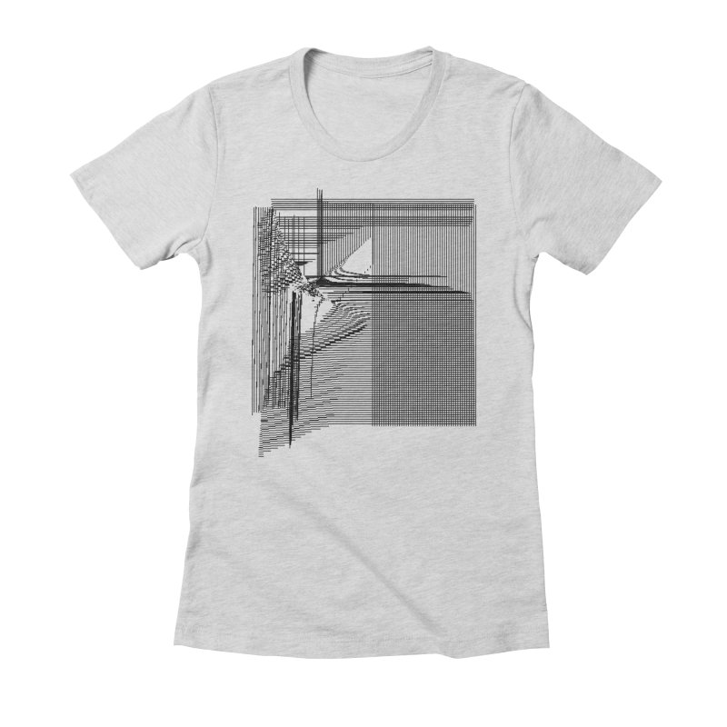 parallel 9d34e84 Women's Fitted T-Shirt by inconvergent
