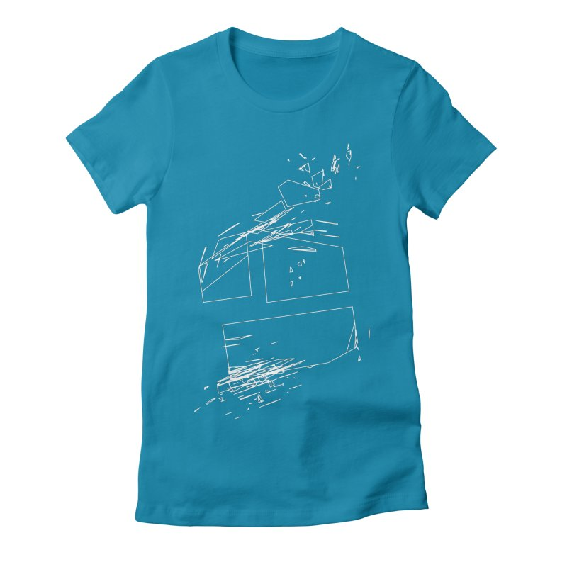 split 3a6e1f7 Women's Fitted T-Shirt by inconvergent