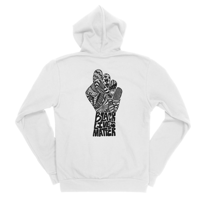 Black Lives Matter - B Men's Zip-Up Hoody by Incredibly Average Online Store