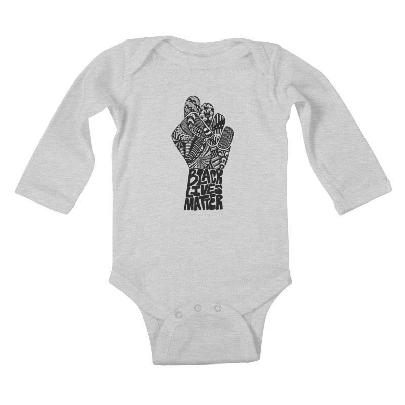 Black Lives Matter - B Kids Baby Longsleeve Bodysuit by Incredibly Average Online Store