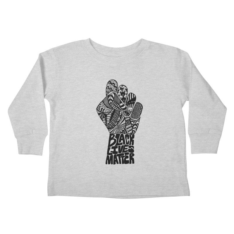 Black Lives Matter - B Kids Toddler Longsleeve T-Shirt by Incredibly Average Online Store
