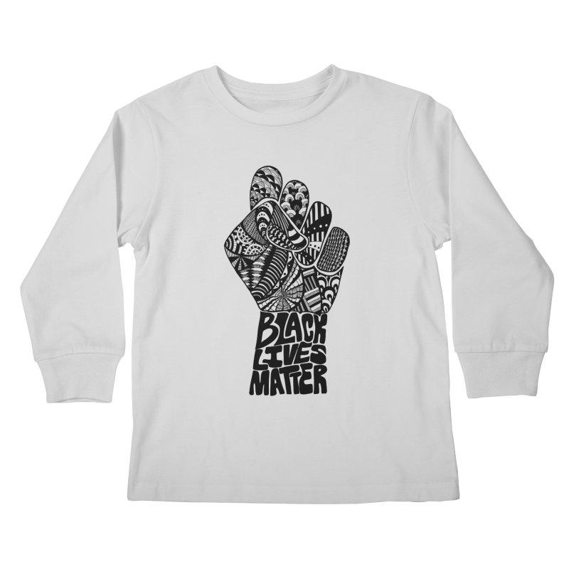 Black Lives Matter - B Kids Longsleeve T-Shirt by Incredibly Average Online Store