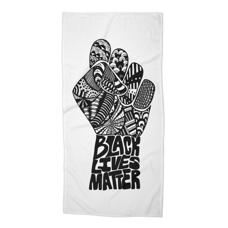 Black Lives Matter - B Accessories Beach Towel by Incredibly Average Online Store