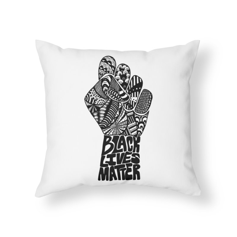 Black Lives Matter - B Home Throw Pillow by Incredibly Average Online Store
