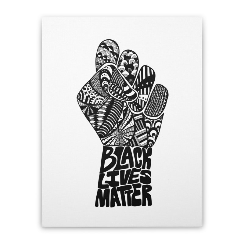 Black Lives Matter - B Home Stretched Canvas by Incredibly Average Online Store