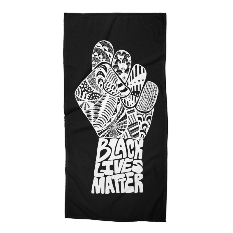 Black Lives Matter - W Accessories Beach Towel by Incredibly Average Online Store