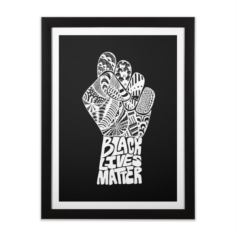 Black Lives Matter - W Home Framed Fine Art Print by Incredibly Average Online Store