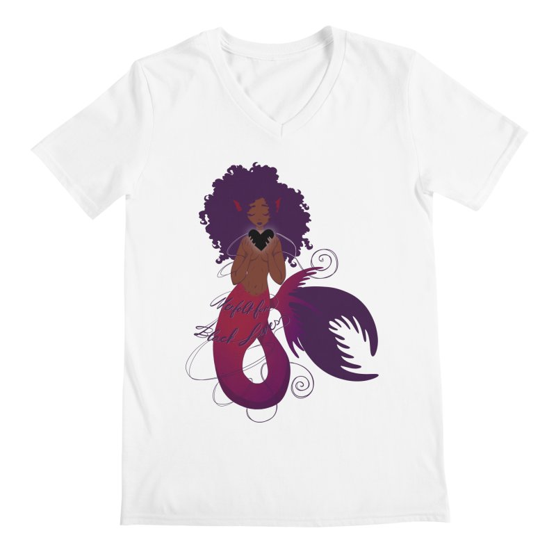 Merfolk for Black Lives Men's V-Neck by Incredibly Average Online Store