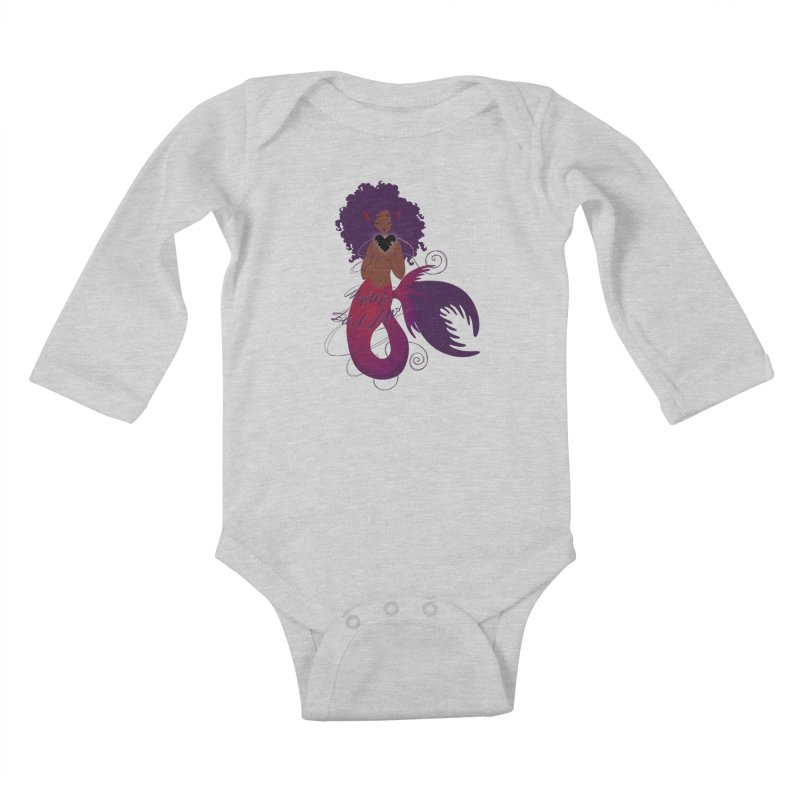 Merfolk for Black Lives Kids Baby Longsleeve Bodysuit by Incredibly Average Online Store