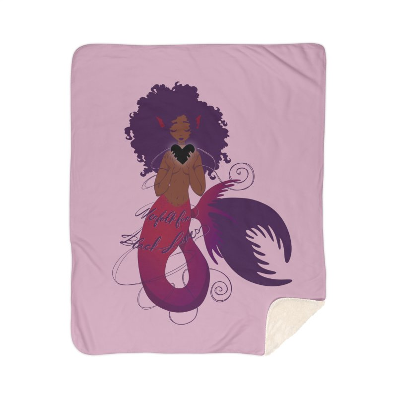Merfolk for Black Lives Home Blanket by Incredibly Average Online Store