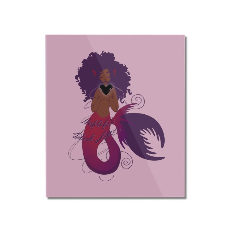 Merfolk for Black Lives Home Mounted Acrylic Print by Incredibly Average Online Store