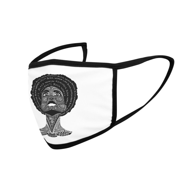 Support Black Women Accessories Face Mask by Incredibly Average Online Store