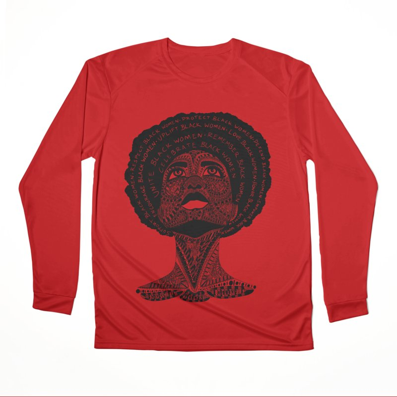 Support Black Women Women's Longsleeve T-Shirt by Incredibly Average Online Store