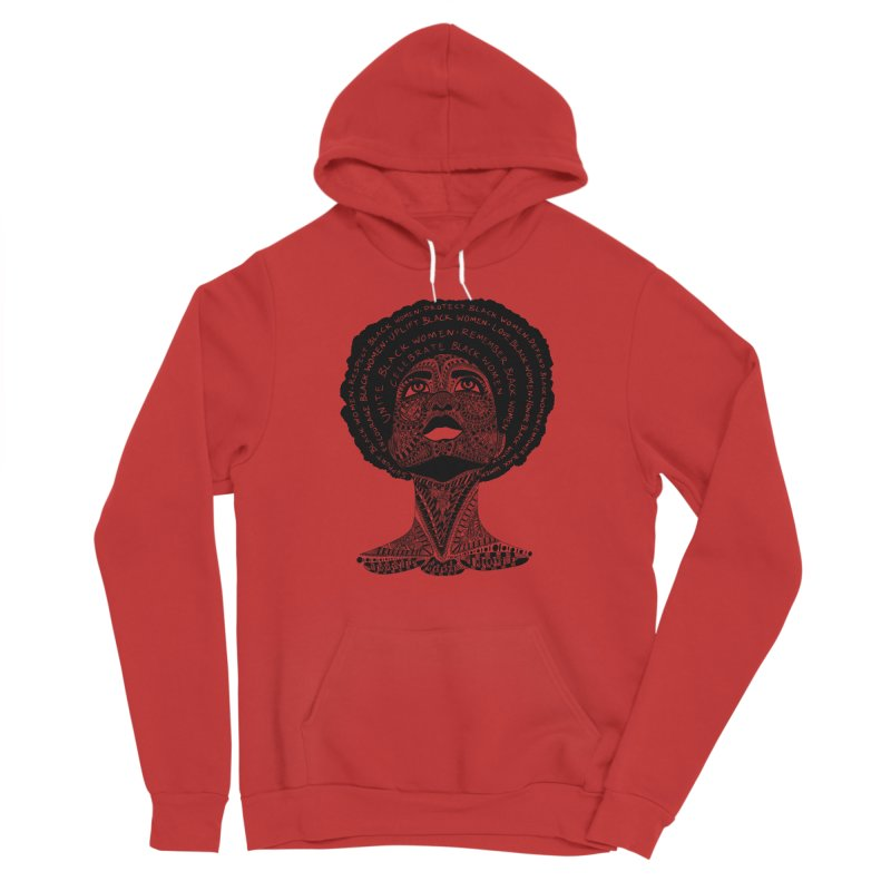 Support Black Women Women's Pullover Hoody by Incredibly Average Online Store