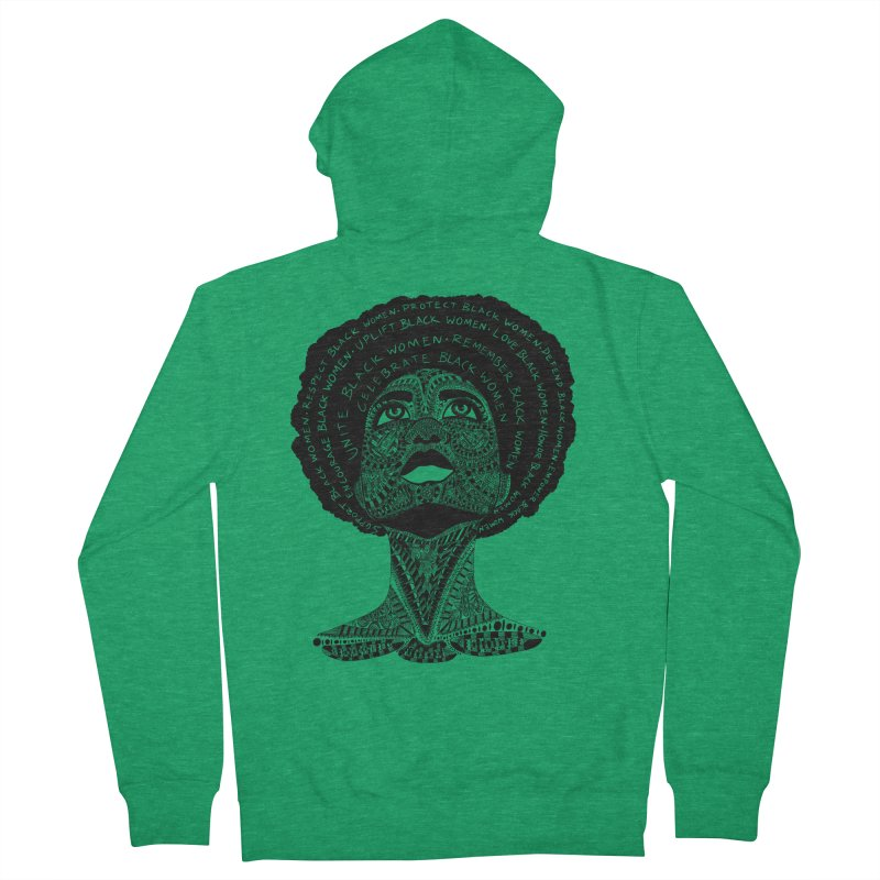 Support Black Women Men's Zip-Up Hoody by Incredibly Average Online Store