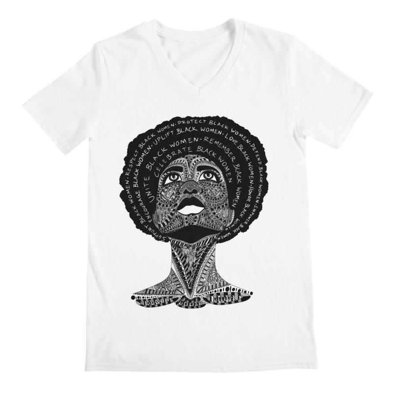 Support Black Women Men's V-Neck by Incredibly Average Online Store