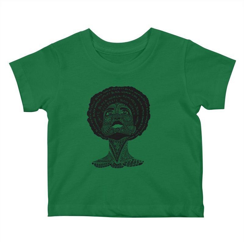 Support Black Women Kids Baby T-Shirt by Incredibly Average Online Store