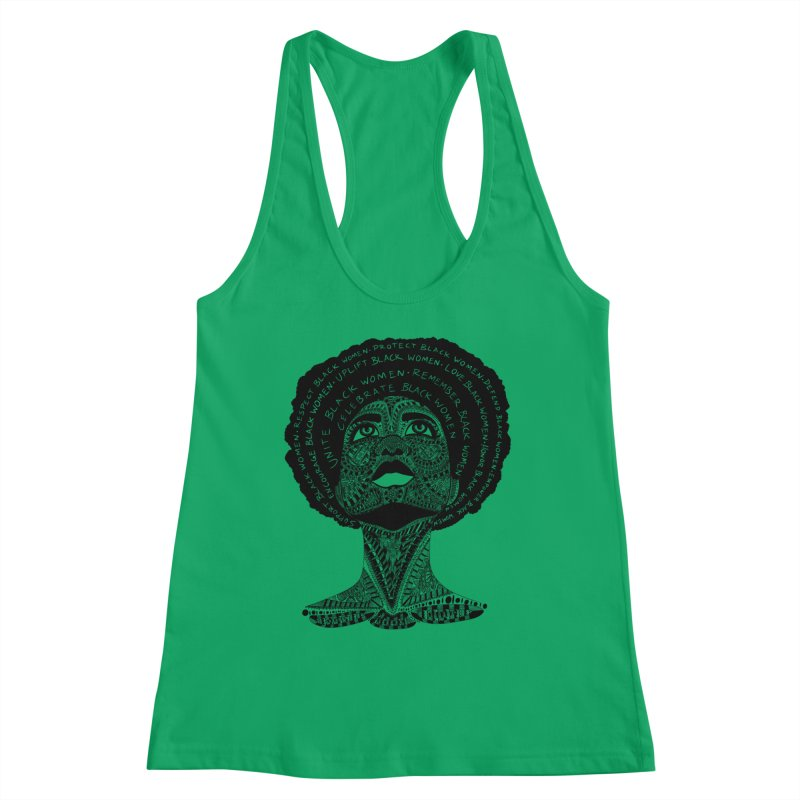 Support Black Women Women's Tank by Incredibly Average Online Store