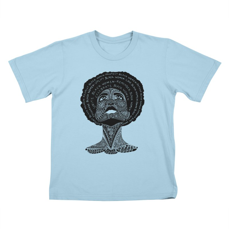 Support Black Women Kids T-Shirt by Incredibly Average Online Store