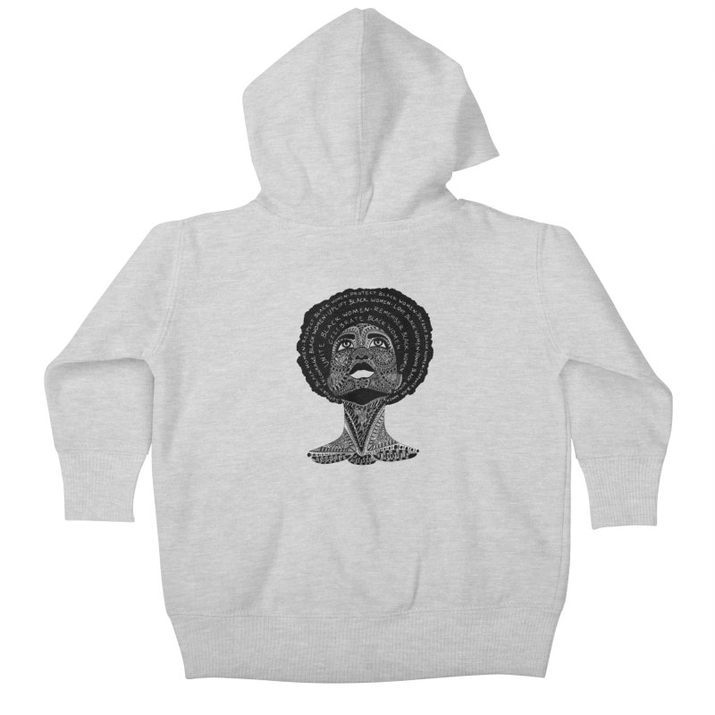 Support Black Women Kids Baby Zip-Up Hoody by Incredibly Average Online Store
