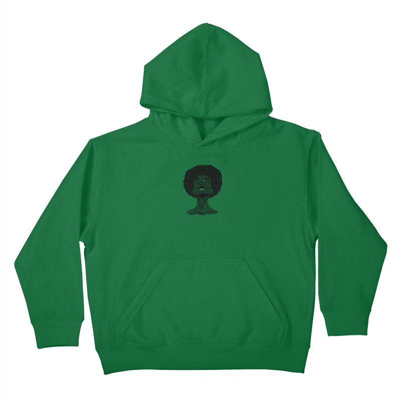 Support Black Women Kids Pullover Hoody by Incredibly Average Online Store