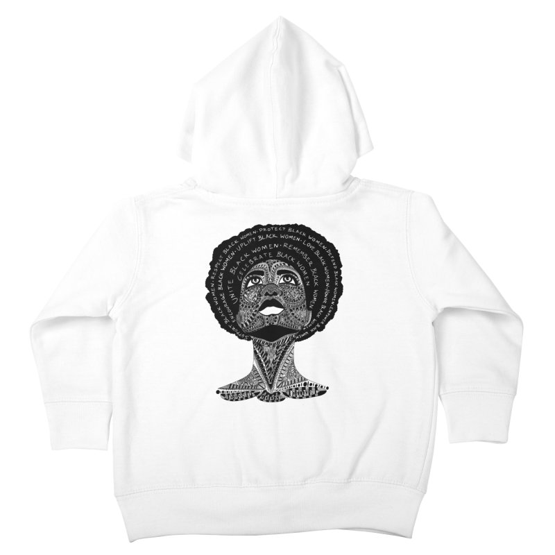 Support Black Women Kids Toddler Zip-Up Hoody by Incredibly Average Online Store