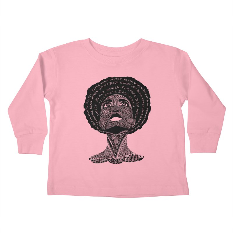 Support Black Women Kids Toddler Longsleeve T-Shirt by Incredibly Average Online Store