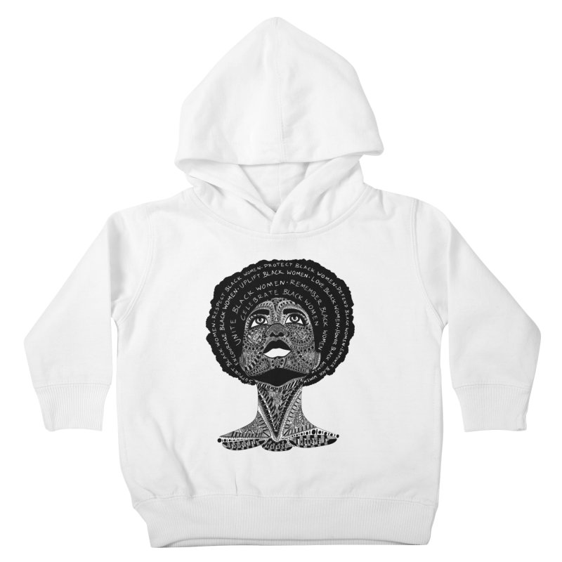Support Black Women Kids Toddler Pullover Hoody by Incredibly Average Online Store