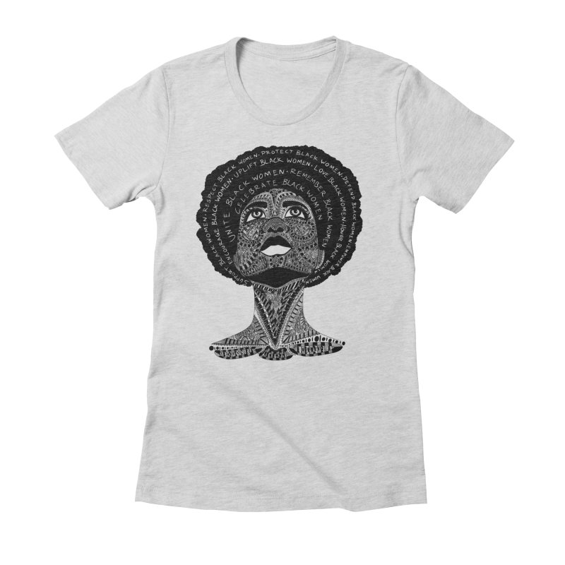 Support Black Women Women's T-Shirt by Incredibly Average Online Store