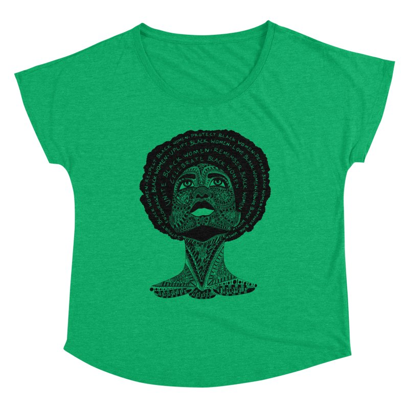 Support Black Women Women's Scoop Neck by Incredibly Average Online Store