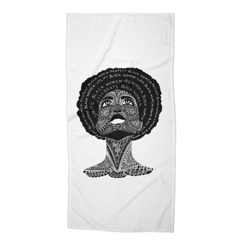 Support Black Women Accessories Beach Towel by Incredibly Average Online Store