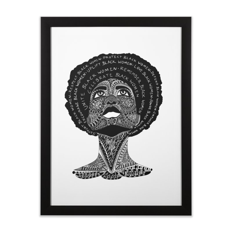 Support Black Women Home Framed Fine Art Print by Incredibly Average Online Store