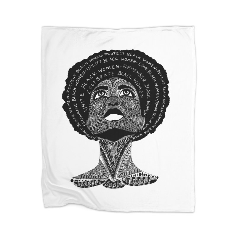 Support Black Women Home Blanket by Incredibly Average Online Store