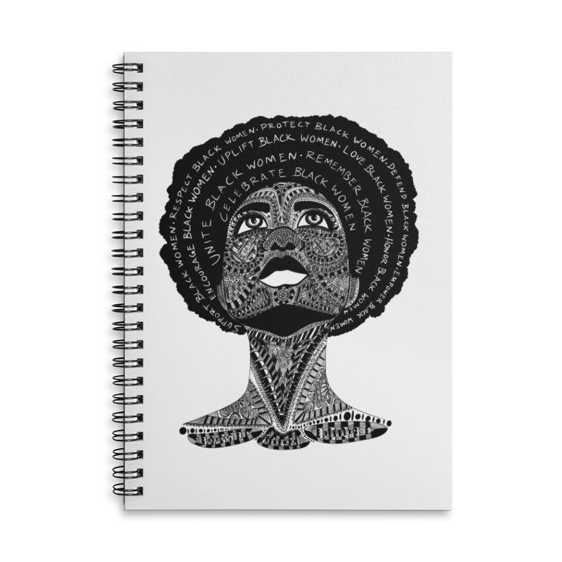 Support Black Women Accessories Notebook by Incredibly Average Online Store