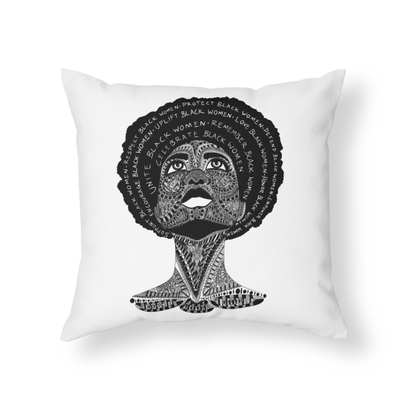 Support Black Women Home Throw Pillow by Incredibly Average Online Store