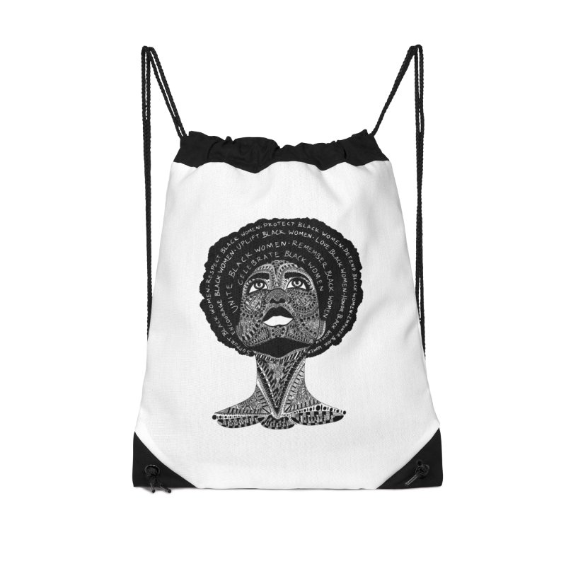 Support Black Women Accessories Bag by Incredibly Average Online Store