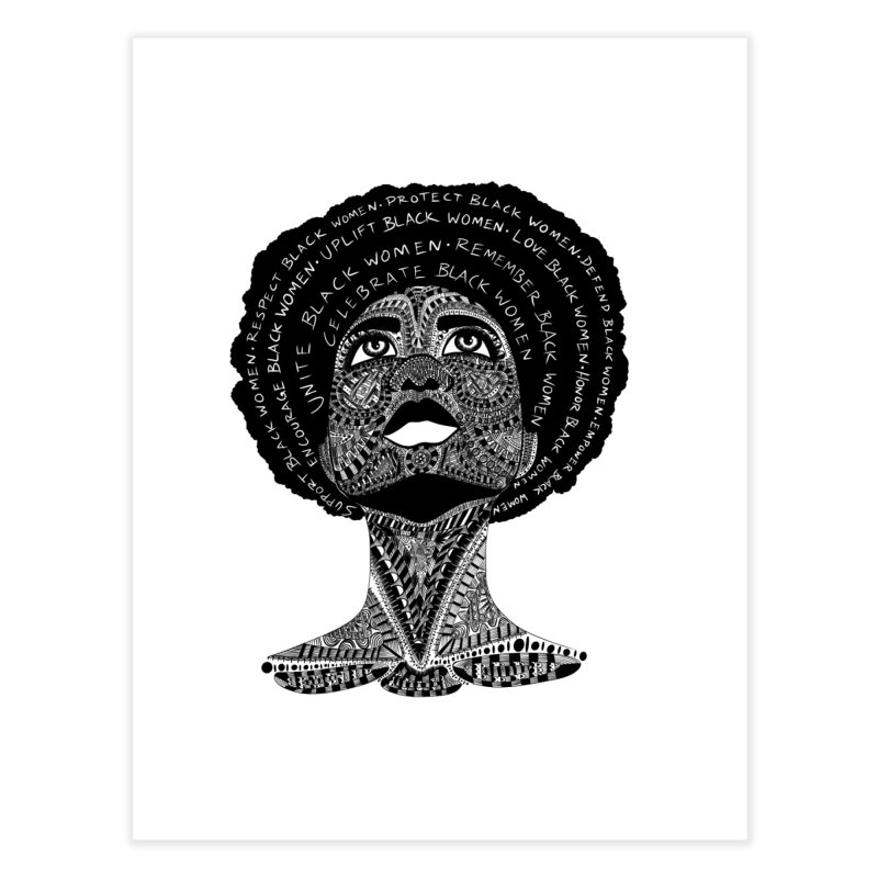 Support Black Women Home Fine Art Print by Incredibly Average Online Store