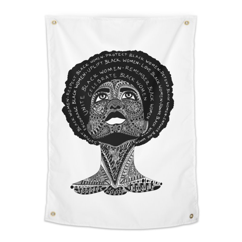 Support Black Women Home Tapestry by Incredibly Average Online Store
