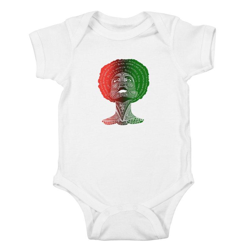 Celebrate Black Women Kids Baby Bodysuit by Incredibly Average Online Store