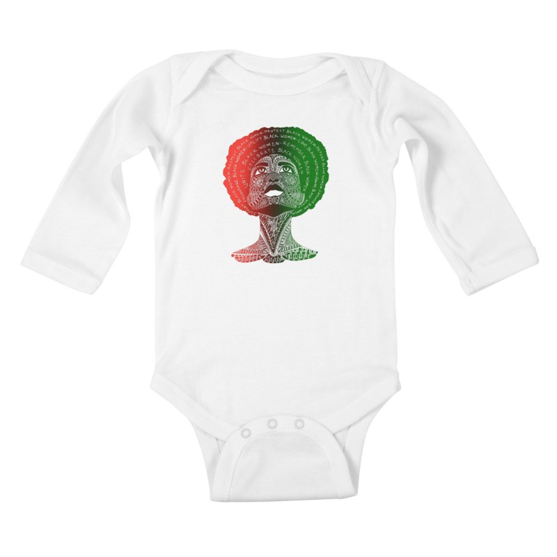 Celebrate Black Women Kids Baby Longsleeve Bodysuit by Incredibly Average Online Store