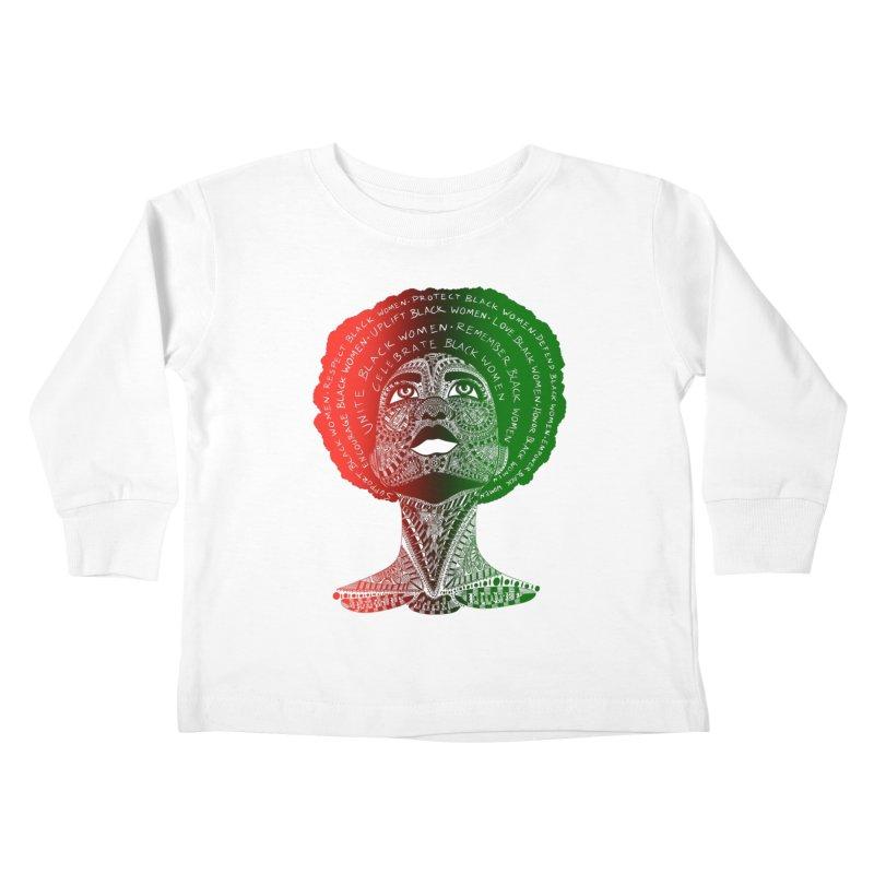 Celebrate Black Women Kids Toddler Longsleeve T-Shirt by Incredibly Average Online Store