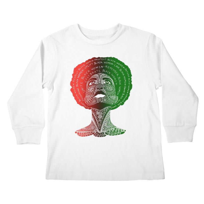 Celebrate Black Women Kids Longsleeve T-Shirt by Incredibly Average Online Store