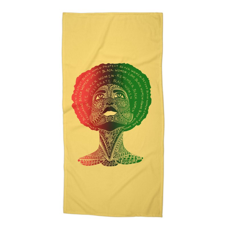 Celebrate Black Women Accessories Beach Towel by Incredibly Average Online Store