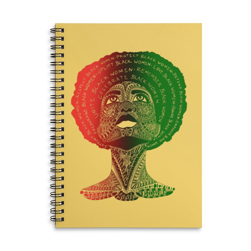 Celebrate Black Women Accessories Notebook by Incredibly Average Online Store