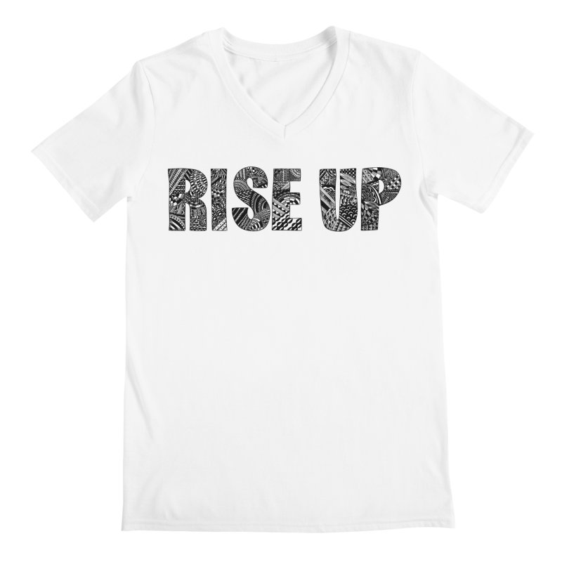 Rise Up Men's V-Neck by Incredibly Average Online Store