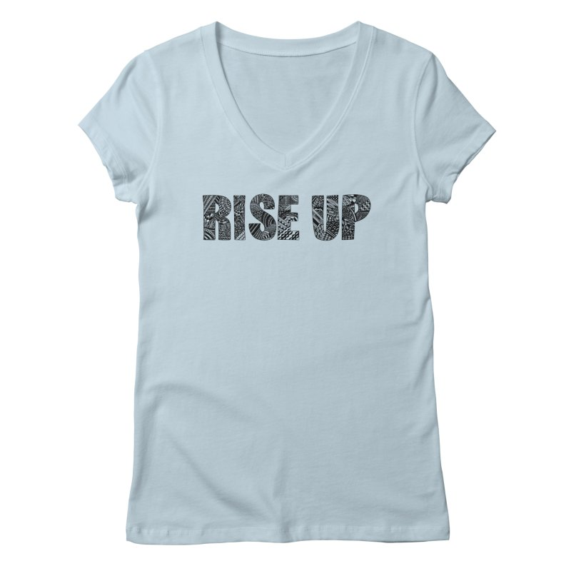 Rise Up Women's V-Neck by Incredibly Average Online Store