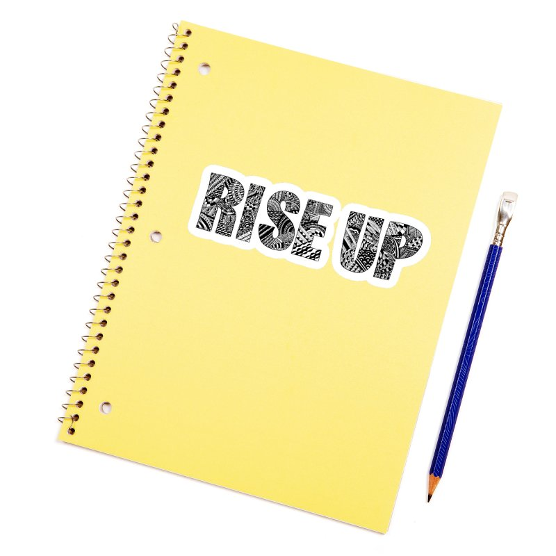 Rise Up Accessories Sticker by Incredibly Average Online Store