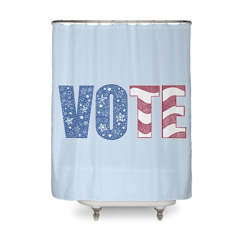 Vote! Home Shower Curtain by Incredibly Average Online Store