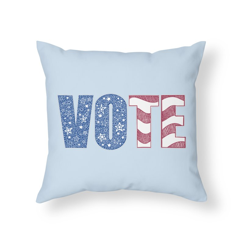Vote! Home Throw Pillow by Incredibly Average Online Store